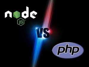 Node JS vs PHP graphic